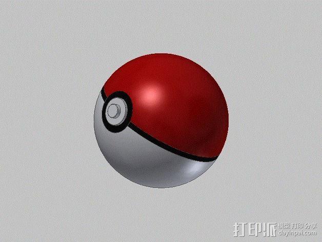 口袋妖怪球  3D打印模型渲染图