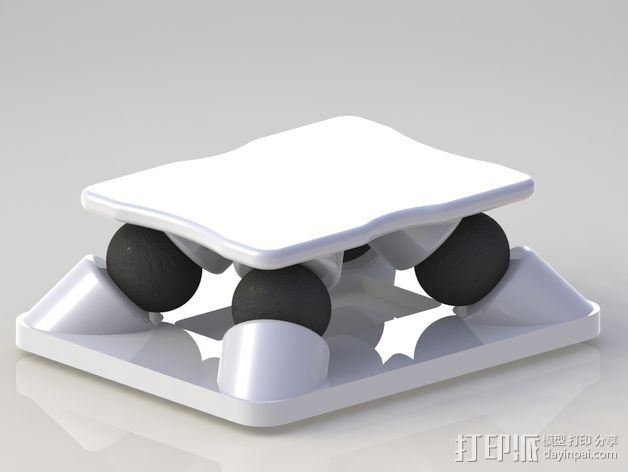 防震支架 3D打印模型渲染图