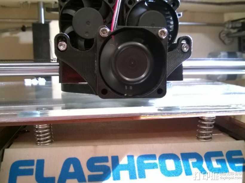 风扇散热导管 3D打印模型渲染图