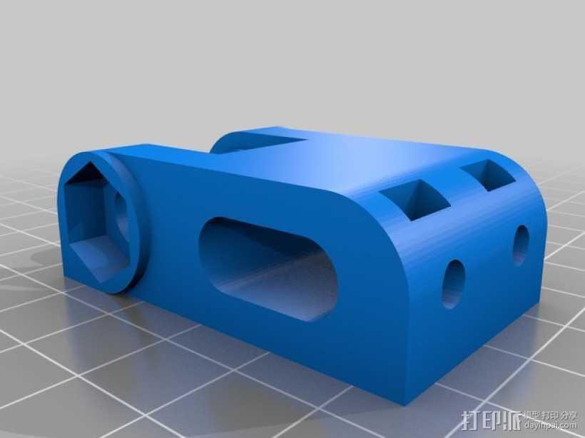 惰轮轴承支架 3D打印模型渲染图