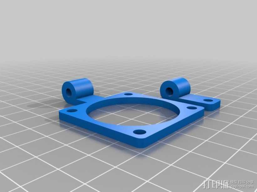 风扇支架 风扇框 3D打印模型渲染图