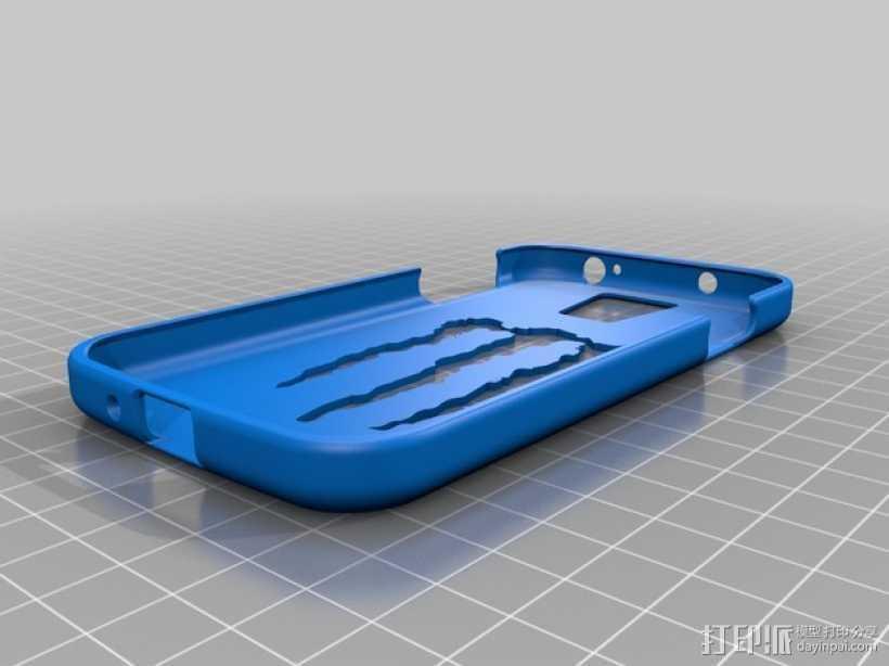 三星 Galaxy S4手机保护外壳 3D打印模型渲染图