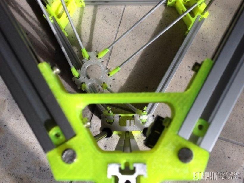 R/K Delta式打印机 3D打印模型渲染图