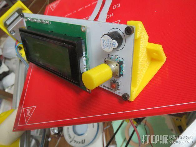 控制器框架 3D打印模型渲染图