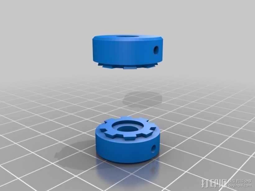弹性耦合器 3D打印模型渲染图