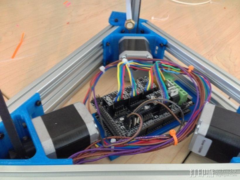 马达支架 3D打印模型渲染图