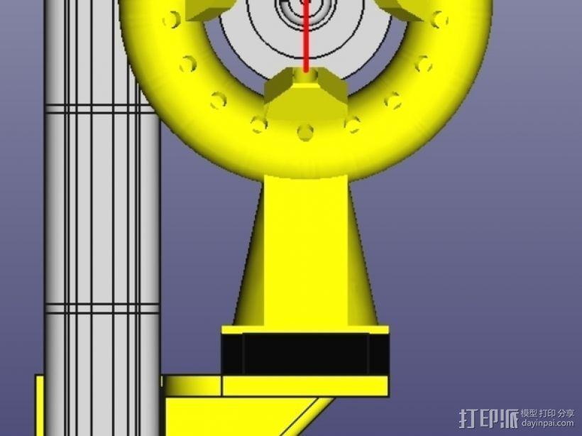 风扇导管 风扇支架 3D打印模型渲染图
