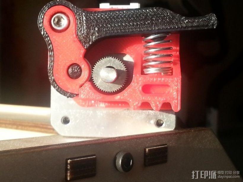 弹簧加压挤出机 3D打印模型渲染图