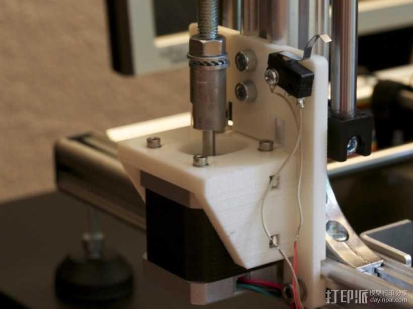 Z轴马达支架 3D打印模型渲染图