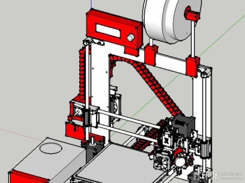 锚链 风扇支架 限位开关 3D打印模型渲染图
