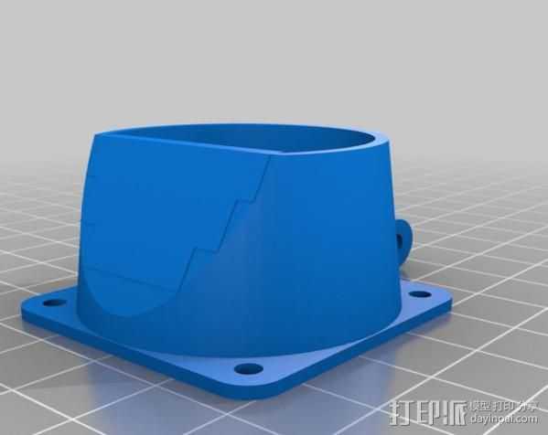 风扇固定架 3D打印模型渲染图