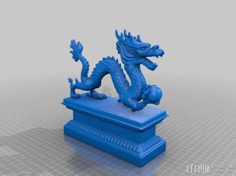 中国龙 3D打印模型渲染图