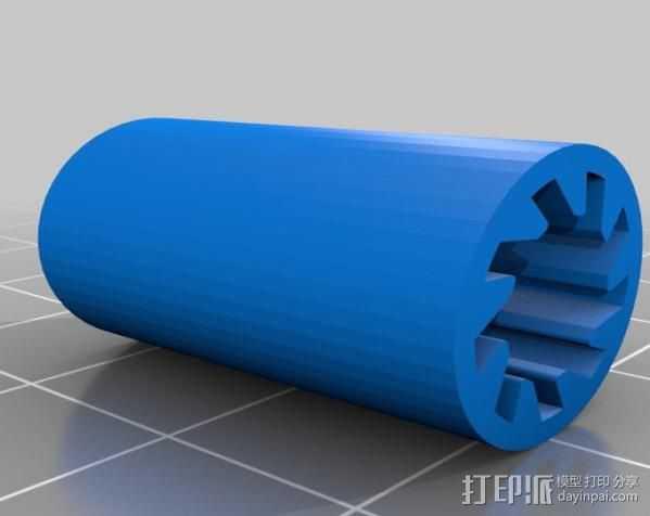 lm8uu轴承套管 3D打印模型渲染图