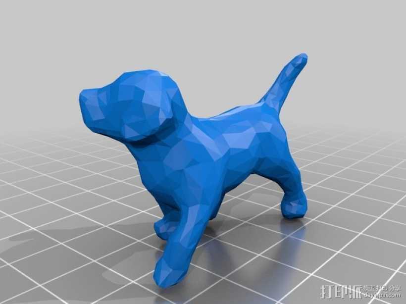 贵宾犬 3D打印模型渲染图