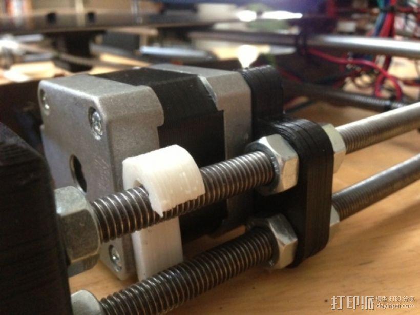 打印机Y轴马达稳定器 3D打印模型渲染图