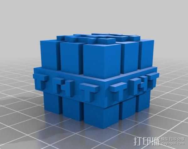 TNT砖块 我的世界 3D打印模型渲染图