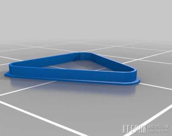 台球三角架 3D打印模型渲染图