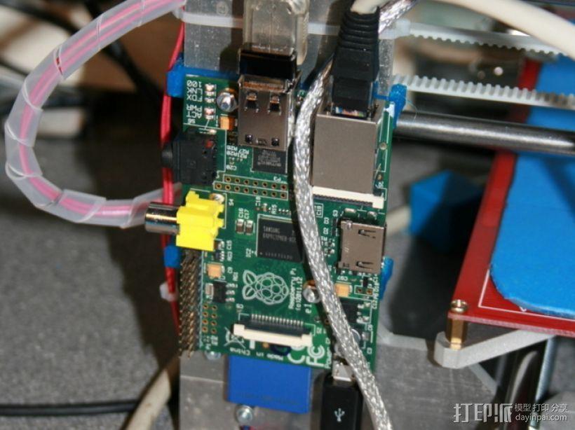 Rapsberry Pi 树莓派安装支架 3D打印模型渲染图