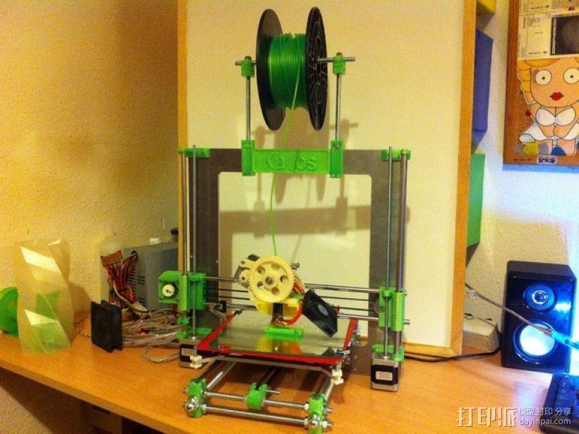 Prusa i3打印机线轴支架 3D打印模型渲染图