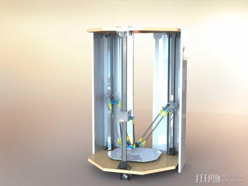 Delta-Pi Reprap 3D 打印机 3D打印模型渲染图