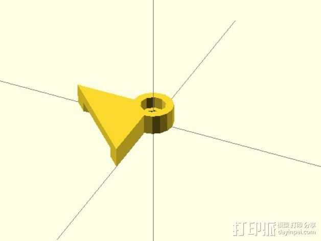 玻璃床支撑器 3D打印模型渲染图