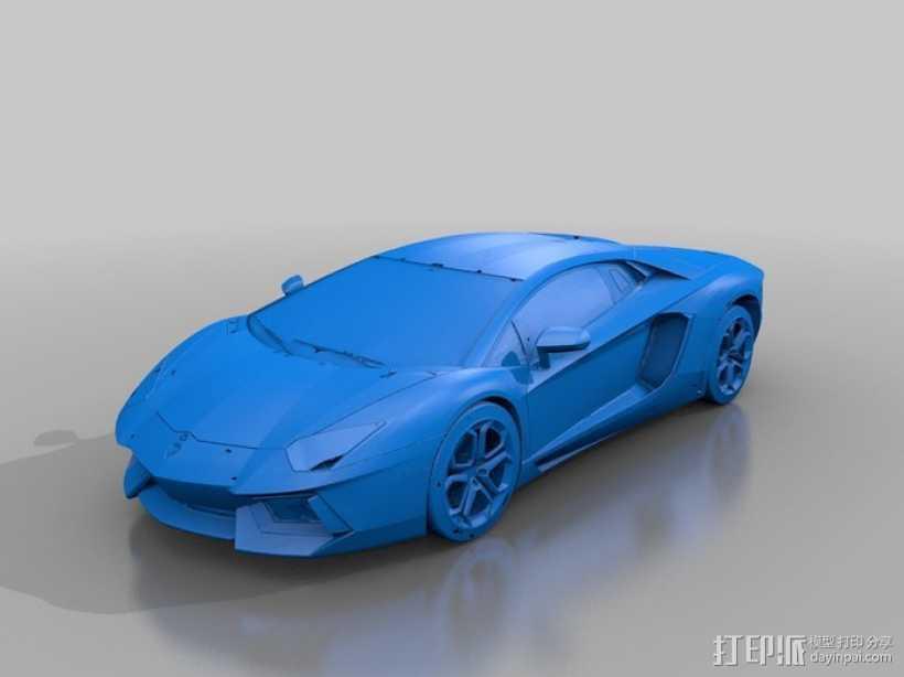 Lamborghini Super HQ跑车 3D打印模型渲染图