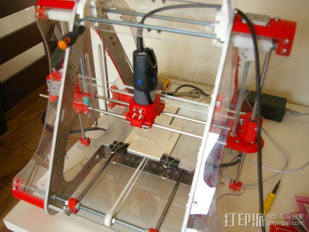 电磨支架 3D打印模型渲染图