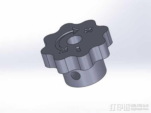 旋钮 3D打印模型渲染图