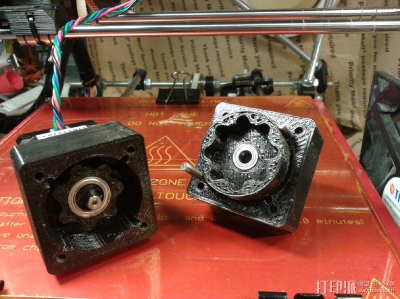 圆内螺线齿轮盒 3D打印模型渲染图
