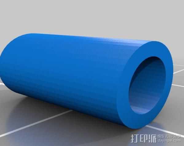 线材过滤器 线材清洁器 3D打印模型渲染图