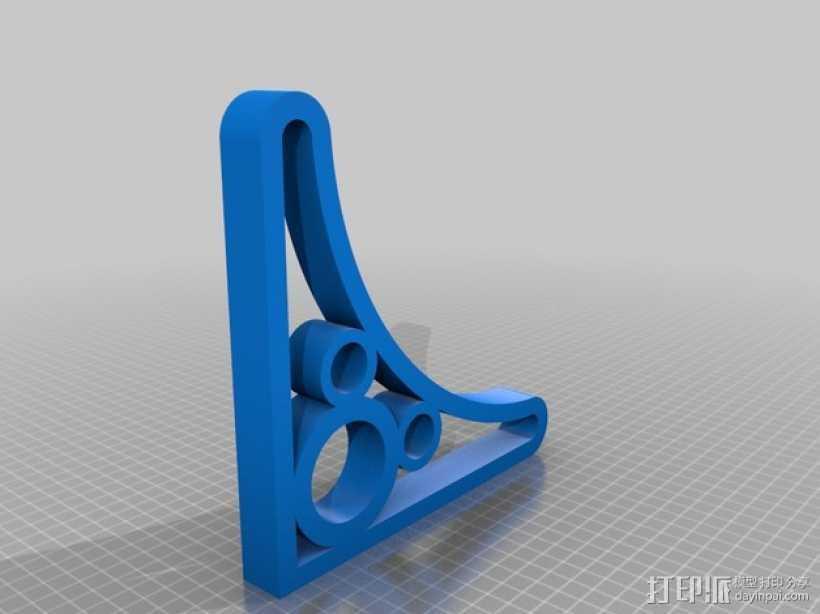 米奇三角托架 3D打印模型渲染图