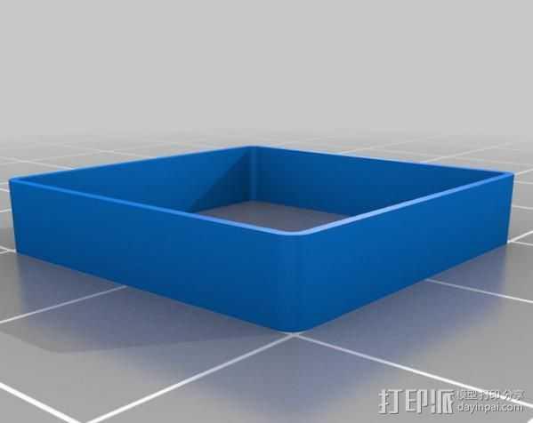 方形盒子 校准器  3D打印模型渲染图