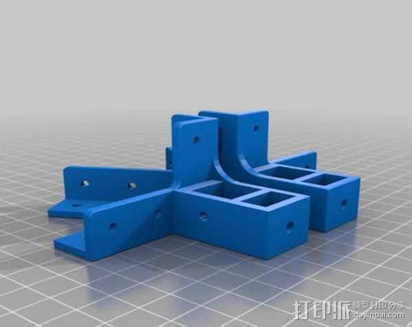 Mendel Max打印机连接棱柱 连接器  3D打印模型渲染图
