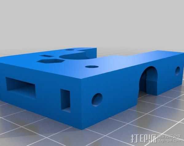 J-Head挤出机 3D打印模型渲染图