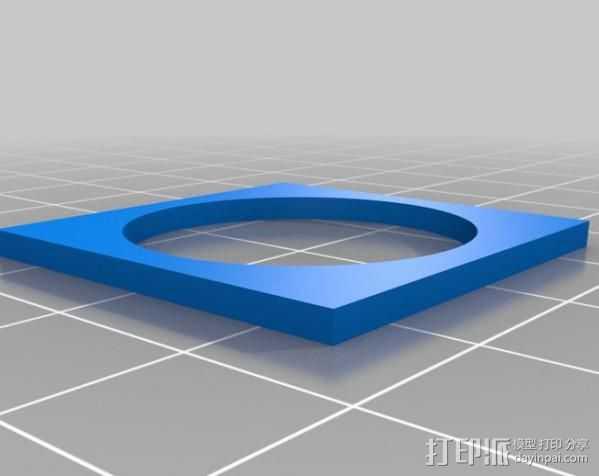 欧元硬币校准器 3D打印模型渲染图