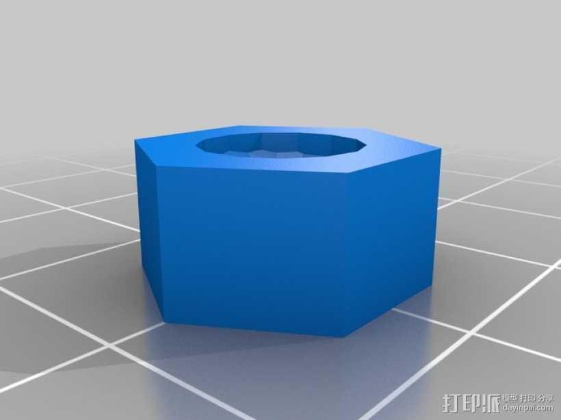 标准套件 M8六角螺母和垫片 3D打印模型渲染图