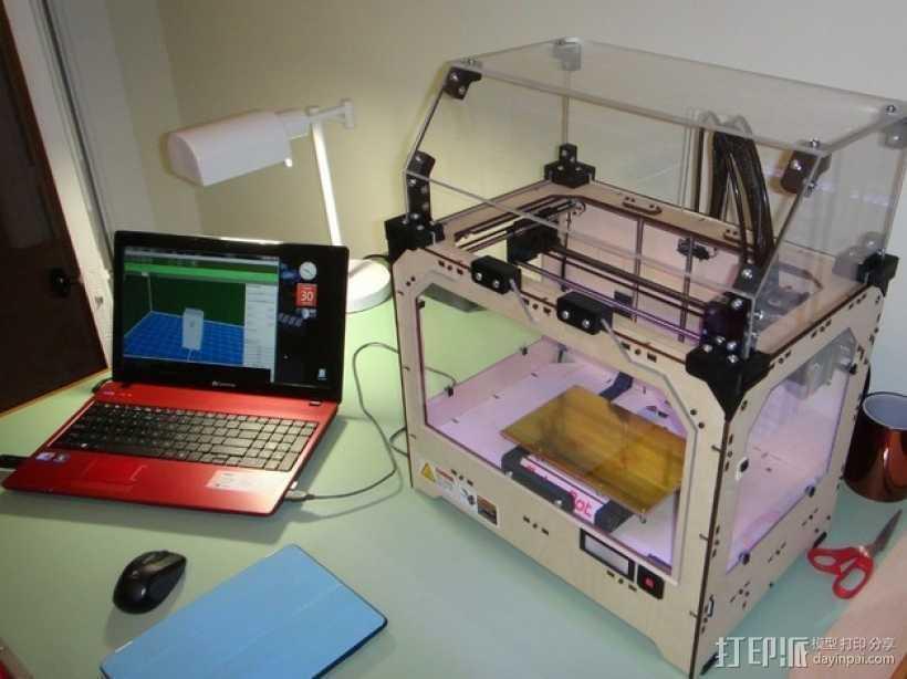 Makerbot Replicator打印机外罩 外框 3D打印模型渲染图