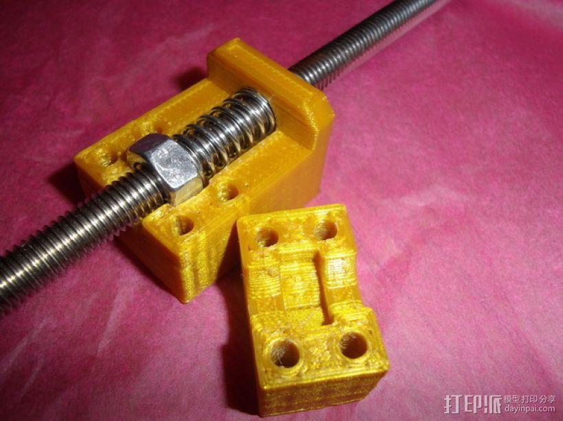 防齿隙螺母架 3D打印模型渲染图