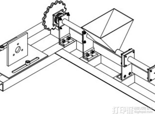 RecycleBot挤出机 3D打印模型渲染图