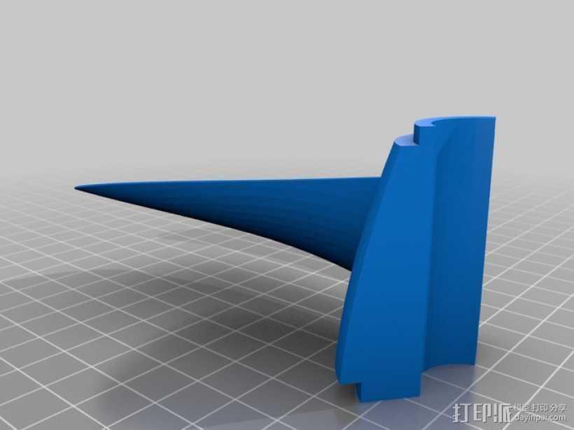 螺旋桨 3D打印模型渲染图