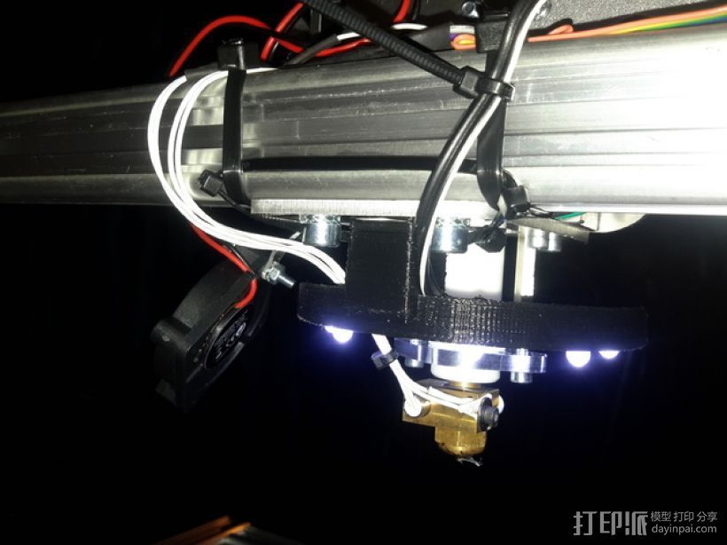 LED灯支架 3D打印模型渲染图