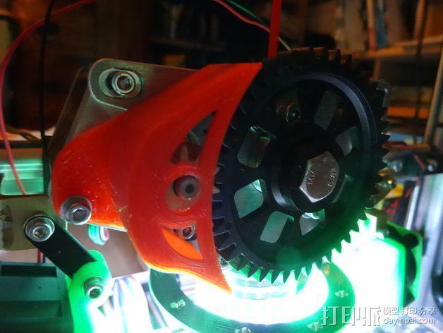 齿轮保护器 3D打印模型渲染图