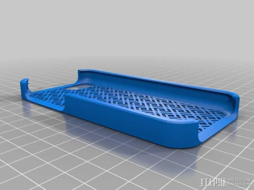 网格iPhone手机保护壳 3D打印模型渲染图