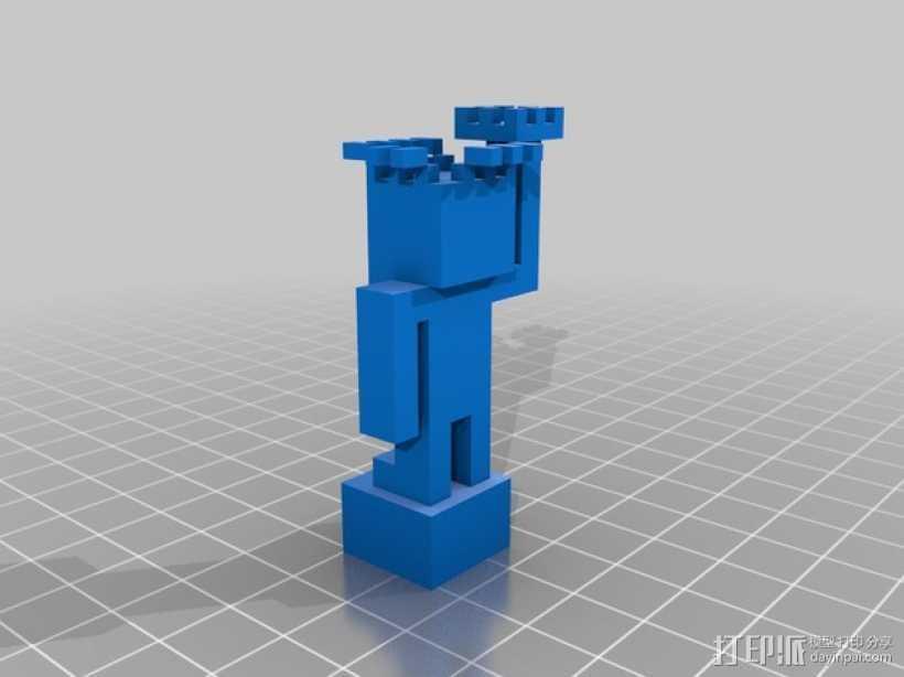 自由女神像 3D打印模型渲染图