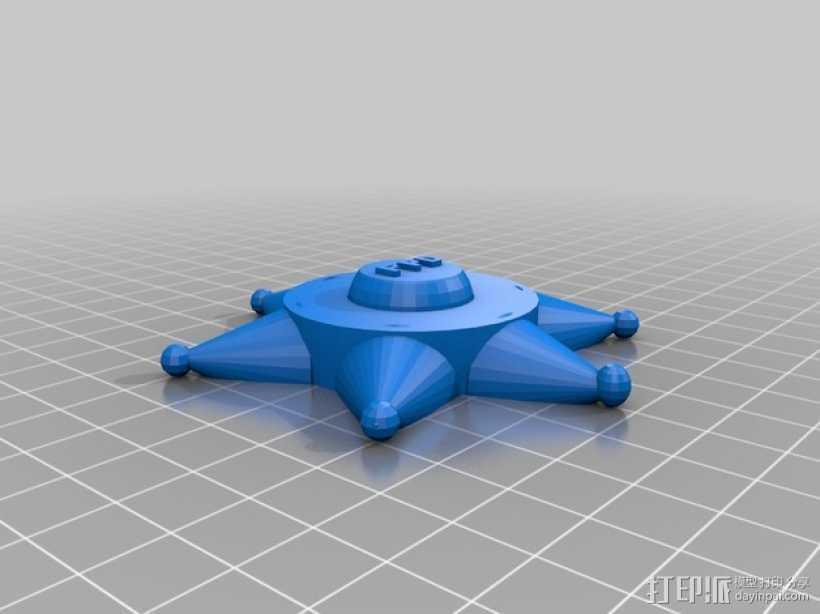 警察徽章 3D打印模型渲染图