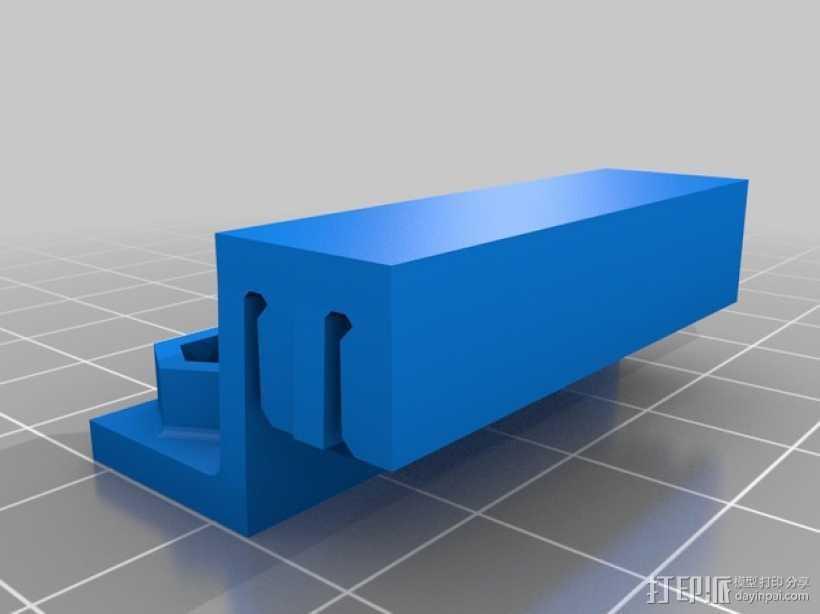 双皮带连接器 3D打印模型渲染图