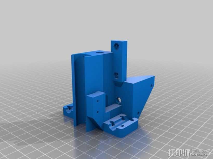 打印机X轴惰轮 马达固定支架 3D打印模型渲染图