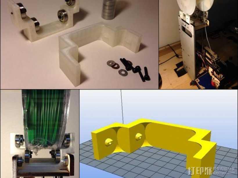 Printrbot Simple打印机线轴适配器 线轴支架  3D打印模型渲染图