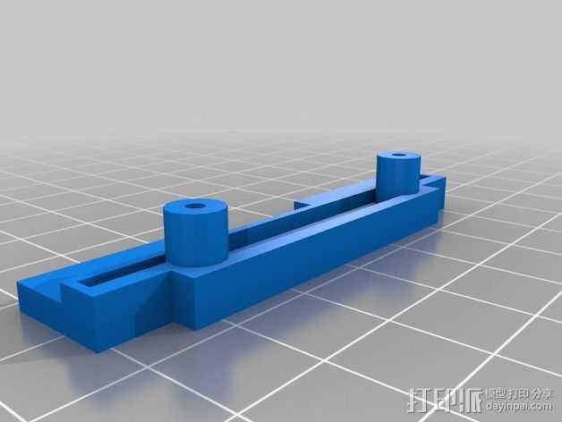 Flashforge Dreamer 打印机X轴皮带支架 3D打印模型渲染图