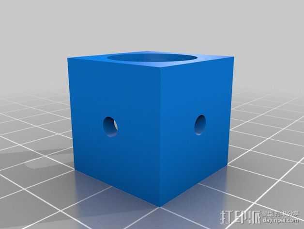 挤出机拐角连接器 3D打印模型渲染图